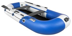 Лодка ПВХ Пеликан 270 River синяя надувная гребная