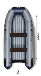 Лодка ПВХ Флагман 380L НДНД надувная под мотор