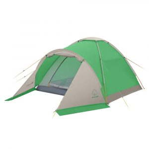 Фото Палатка походная с тамбуром GREENELL Моби 2 плюс Зеленый/свет.серый